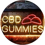 ADVPRO CBD Gummies Dual Color LED Enseigne Lumineuse Neon Sign Red & Yellow...