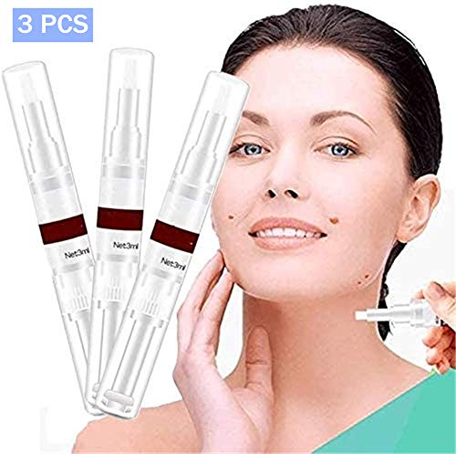 Wipeoff Tags & Moles Remover, Skin Tags Remover Pen, Wart Removal Liquid, Wart Mole Vanish Skin Tag Remover Kit, Remover Pen for Moles, Skin Tags, Warts, Age Spots, Freckles & More (3 PCS)