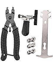 Bike Repair Tool Kits, Fietsketting Tool Set, Draagbaar, Eenvoudig te gebruiken, Universele Kettingsplitter + Kettingslijtage Indicator + 16 in 1 Multifunctionele Schroevendraaier Socket Wrench Kit