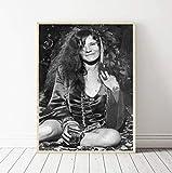 QINGRENJIE Wandkunst Bild Leinwanddruck Poster Janis Joplin