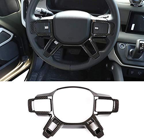 ACCEMOD Lenkrad-Abdeckung für Land Rover Defender 110 2020 2021 ABS Auto-Innenzubehör; Kohlefaser
