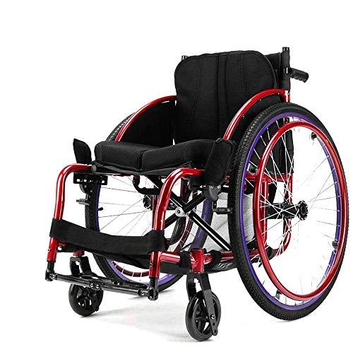 WLD Tipo de Deporte Simple para Las Sillas de Ruedas Ancianos, Discapacitados Ancianos Autopropulsión Simple para la Silla de Ruedas de Ancianos, Transporte Plegable Portátil Simple para el S