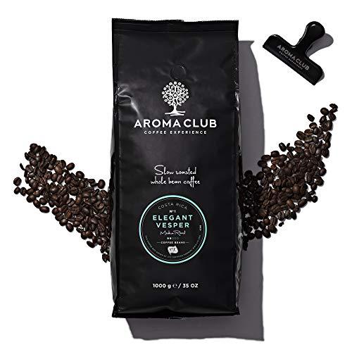 Aroma Club Kaffeebohnen 1 kg – Elegant Vesper Mild röstung – 100% arabica van Costa Rica – Slow Roast – UTZ certified & co2 Neutraal