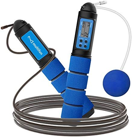 multifun Jump Rope Speed Skipping Rope with Calorie Counter Adjustable Digital Counting Jump product image