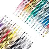 OUTERDO - Pennarelli acrilici in 30 colori, punta fine da 0,7 mm, resistenti all'acqua, per pietra, metallo, carta, vetro, legno, plastica, ceramica