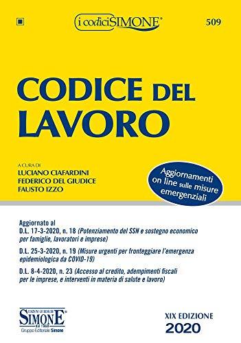 Codice del lavoro. Con aggiornamento online