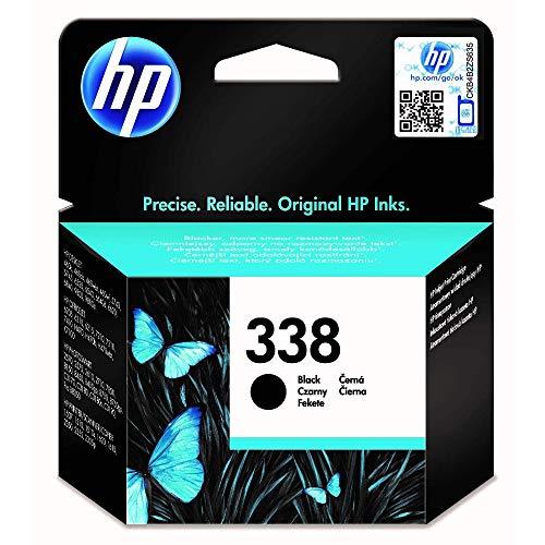 HP 338 Schwarz Original Druckerpatrone für HP OfficeJet, DeskJet, Photosmart