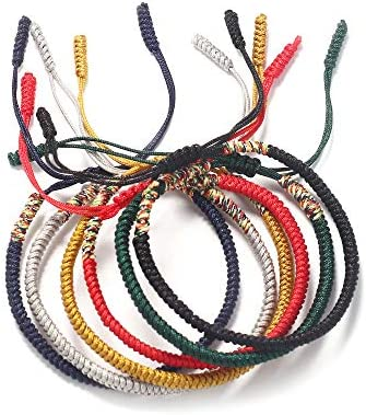 LOYALLOOK 6 Pcs Handmade Rope Tibetan Lucky Friendship Bracelets Protection Charm for Men Women product image