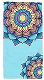 Toalla diseño de Mandala para Playa, Piscina, Camping, Ducha, Material Suave y Resistente, Colores intensos y Bonitos. Toalla de Deporte para Yoga, Gimnasio (Mandala 1, 30x50)