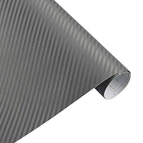 Vinilo Fibra Carbono, Fibra Carbono Adhesiva 127cmx15cm 3D 3M Auto Fibra de carbono Vinilo Película de carbono Envoltura de automóvil Papel de película Papel de película Motocicleta Pegatinas de autom