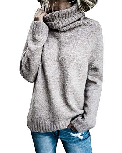 Sudaderas Mujer Otoño Invierno Elegante Pullover Irregular Cuello Alto Mode De Marca Manga Largo Anchos Casual Color Sólido Jerseys Sweater Cómodo Jerseys Lana Joven Estilo Moderno