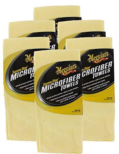 Meguiars X2020 Supreme Shine Mikrofaser-Handtücher, 6er Pack (6 x 3 Stück)