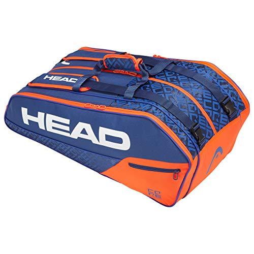 HEAD Core 9R Supercombi, Borsa per Racchetta Unisex Adulto, Blu/Arancia