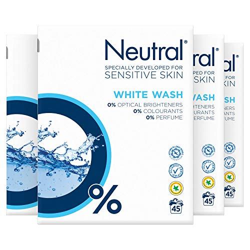 Neutral Wit Waspoeder Parfumvrij 4 x 45 wasbeurten Voordeelverpakking
