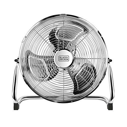 Black+Decker BXEFF120E Ventilatore da Pavimento, 120 W, Plastica, Metallo