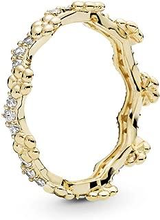 PANDORA Flower Crown 18k Gold Plated PANDORA Shine Collection Ring - 167924CZ