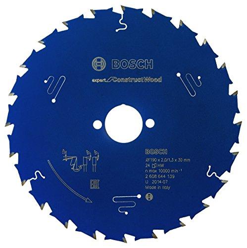 Bosch Professional Kreissägeblatt Expert for Construct Wood (Holz, 190 x 30 x 2 mm, 24 Zähne, Zubehör Kreissäge)