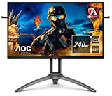AOC AG273QZ - Pantalla para PC Gaming de 27' QHD (resolución 2560x1440, 240 Hz, 0,5 ms, Freesync, HDR, Flickerfree, Altavoces, Vesa, HDMI 2.0, Displayport 1.4, USB 3.2) Negro