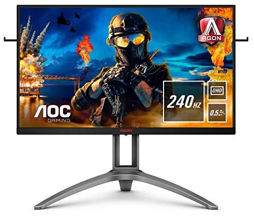 AOC Monitor AGON AG273QZ - 27  QHD (1560x1440, 240 Hz, 0.5 ms, TN, FreeSync Premium Pro, 400 cd m, HDMI 2x2.0, Displayport 2x1.4) Negro, plata