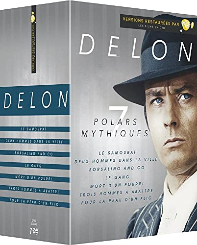 Delon-7 Films : pour la Peau d'un Flic + Trois abattre + Le Gang + Borsalino & Co + Mort d'un pourri + Le Samouraï + Deux Hommes dans la Ville