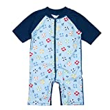 i play. by green sprouts baby boys Sunsuit, Light Blue Lifesaver, 4T US