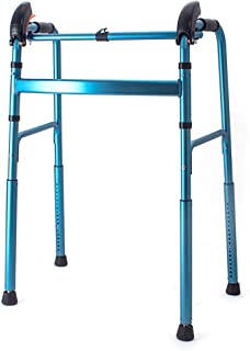 FKDEWALKER Climbing Stairs Aluminium Folding Lightweight Walking Frame,Walking Mobility Aid,Walker