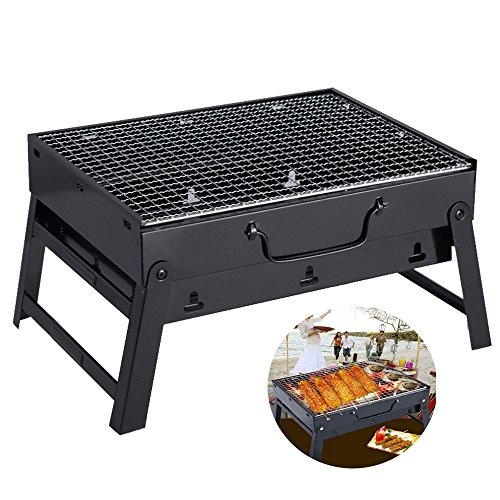 Barbecue Grill Compact Holzkohle Outdoor Klapp Tragbare Shashlik Barbecue Grill Startseite BBQ Tool Set