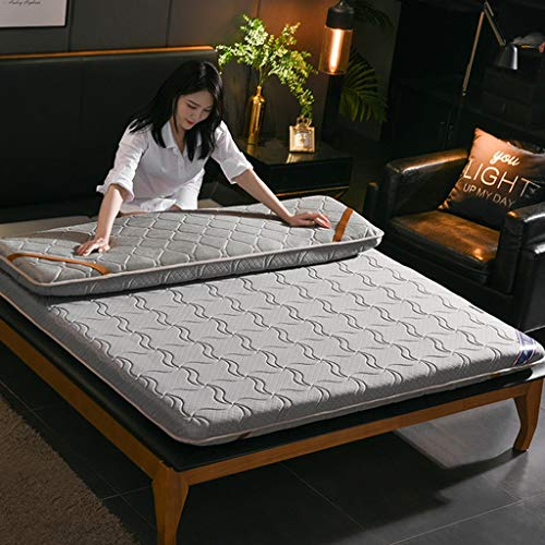 RYUXUI Double Mattress Tatami Mattress Linen Knitted Fabric Mattress Breathable Skin-friendly Mat Sleeping Pad, Support And Better Overnight Recovery (Color : C, Size : Super King (180 x 200cm))