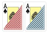 CHIPS and GAMES 2 Decks of Waterproof 100% Plastic Playing Cards, Poker (Wide) Size, Large (Jumbo) Index