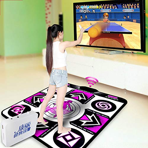 SMAA Tanzmatte, verdickte Wireless-TV Computer-Dual-Use, 3D-Doppel Yoga Somatosensory Spiel-Maschine, mit Hunderten von Spielen Wireless Host Wireless Controller