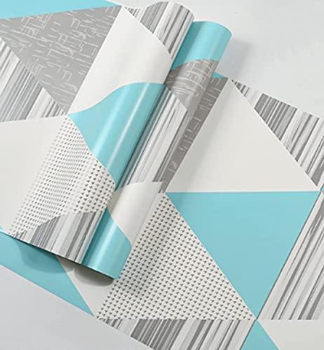 TFJJSQA Sonder/Schlicht Tapete Wohnzimmer Schlafzimmer TV Hintergrund Tapete 53 * 1000 cm frisch blau (Color : Fresh Blue, Size : 53 * 1000cm)