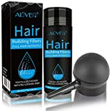 Aliver Hair Building Fibers Spray Pump 2-in-1 Kit Set (Dark Brown) Natural Hair Loss Concealer For Men and Women, Premium Hair Building Formulation