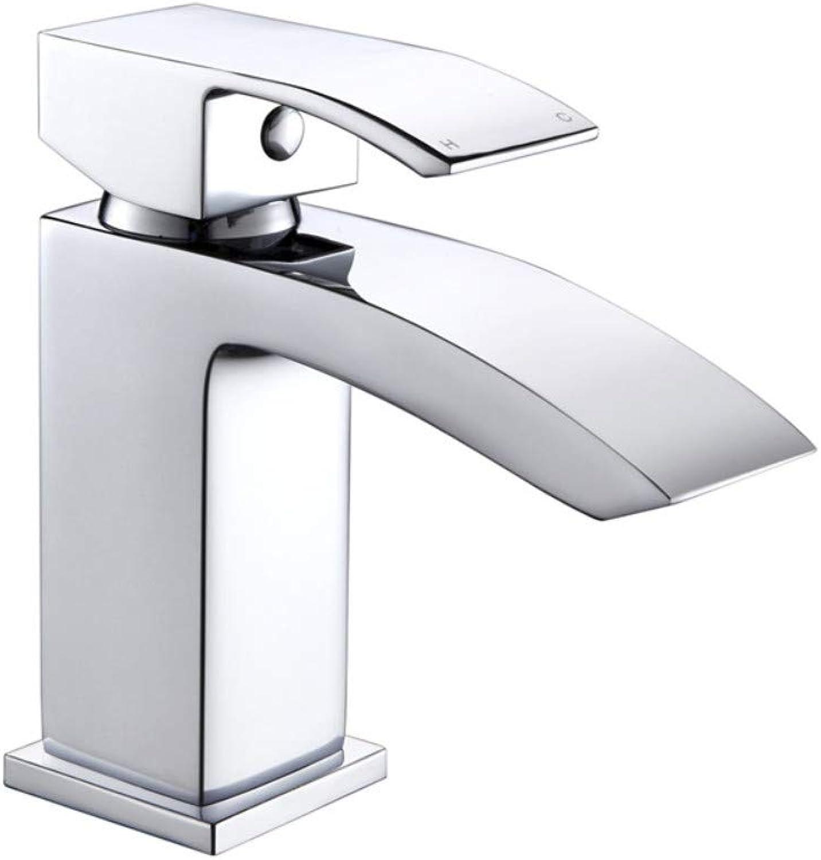 Wasserhahn Waschtischarmatur Waschbecken Mischbatterie Wasserfall Chrom Mit