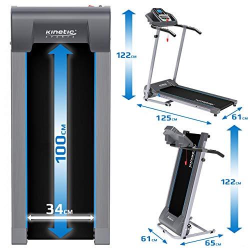 Kinetic Sports KST2700FX Laufband klappbar elektrisch 500 Watt leiser Elektromotor, 12 Pogramme, bis 120 kg, GEH- und Lauftraining, Tablethalterung, stufenlos einstellbar bis 10 km/h - 7