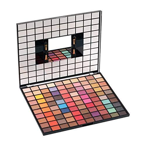 Swiss Beauty MakeUp PRO 100 Color Eyeshadow Palette, Eye MakeUp, Multicolor-01, 110g
