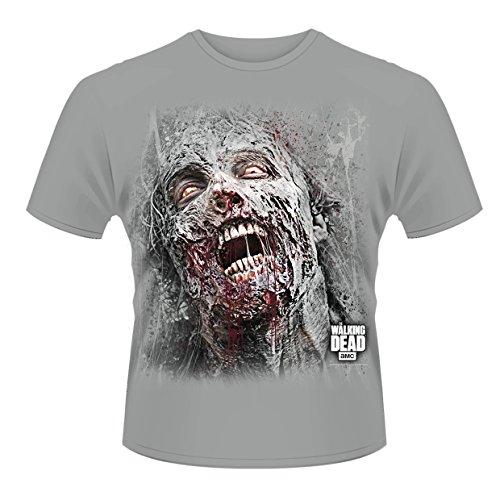 Plastic Head Walking Dead, The Jumbo Walker Face T-Shirt, Gris, L Homme