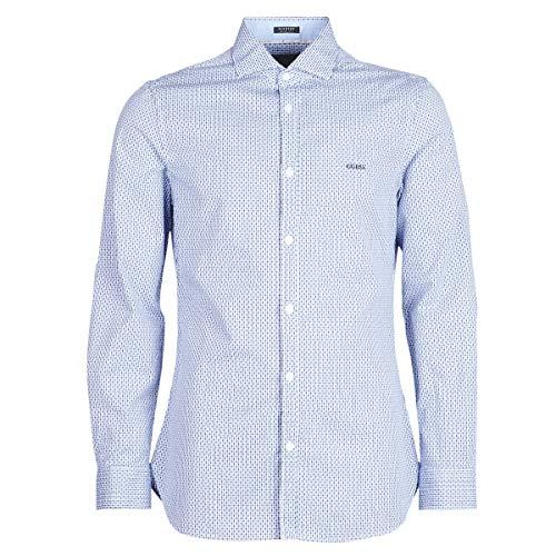 Guess Alameda Hemden Hommes Blau - XXL - Langärmelige Hemden