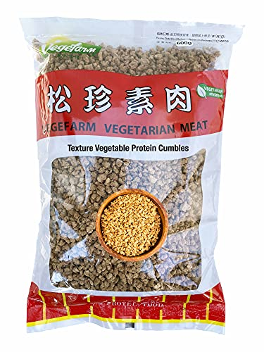 Vegefarm Texture Vegetable Protein TVP Crumbles, TVP Granules, Meatless Grounds, Vegan 21.2 oz (1 pack)