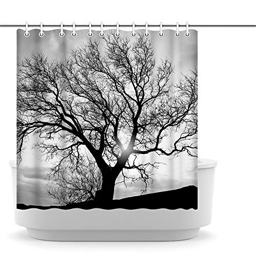 Innopics Black and White Tree Shower Curtain Nature Shower...