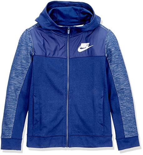 Nike AJ0117-478, Felpa da bambino, multicolore (VUOTO BLU / VUOTO BLU / VUOTO BLU / BIANCO), S
