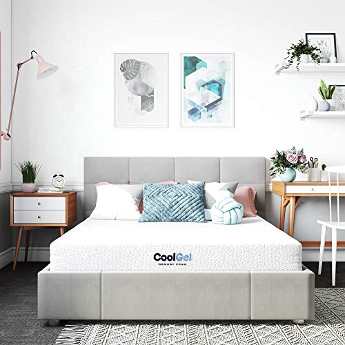 Classic Brands Cool Gel Memory Foam 6-Inch, CertiPUR-US Certified Mattress, Queen, White