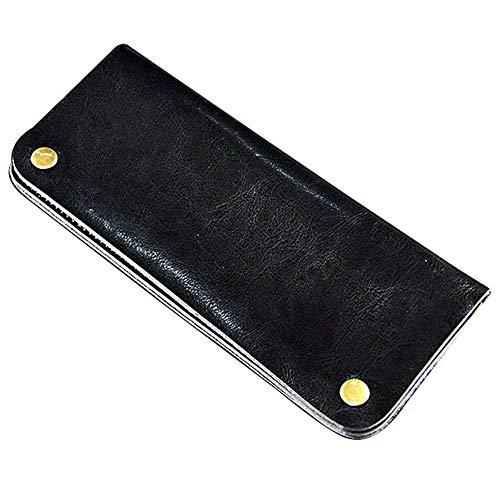 Yingm Scherenhalter-Tasche Leder Schere Kamm Tasche mit Haarpflege Coiffeur Werkzeuge Friseurtasche Salon Hair Stylist Friseur Taillentasche (Farbe : Black, Size : 22X9.5CM)