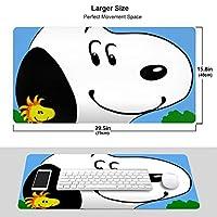 Peanuts スヌーピー マウスパッド 光学マウス対応 パソコン 周辺機器 超大型 防水 洗える 滑り止め 高級感 耐久性が良い 40*75cm