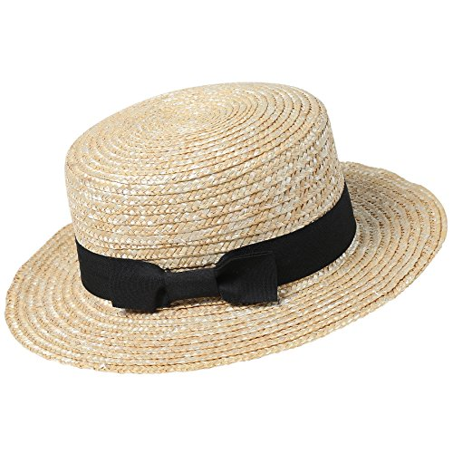 Shallow Crown Straw Hat
