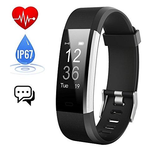 Fitness Tracker Cardiofrequenzimetro,Orologio Fitness Contapassi Activity Tracker Impermeabile IP67 Smartband Bracciale Braccialetto Pedometro da Polso GPS Smart Watch per Uomo Donna Android e iOS