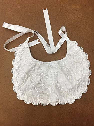 White pearls Baptism Bib Al sold out. Selling rankings