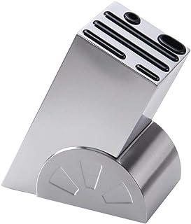 Bloc à Couteaux en Acier Inoxydable Porte-Couteaux de Cuisine Support Couteaux Bois Pour 6 Couteaux Organisation de Cuisin...