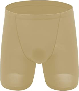 Yng Underwear Men Fitness Ice Silk Short Pants Bodysuit U Convex Design Shorts
