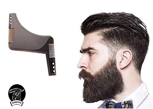 peigne contour de barbe et cheveux-peigne a barbe-pochoir a barbe- peigne pour homme -double pochoir-courbe et diagonal-tracé net et precis