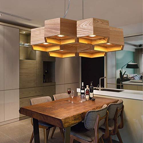 Sohvlt Deckenleuchte dimmbar Massivholz-Deckenleuchte Wohnzimmer Beleuchtung Nordic Logs Restaurant Schlafzimmer-Raum-Lichter Kreative Einfache Led Balkon Deckenleuchte